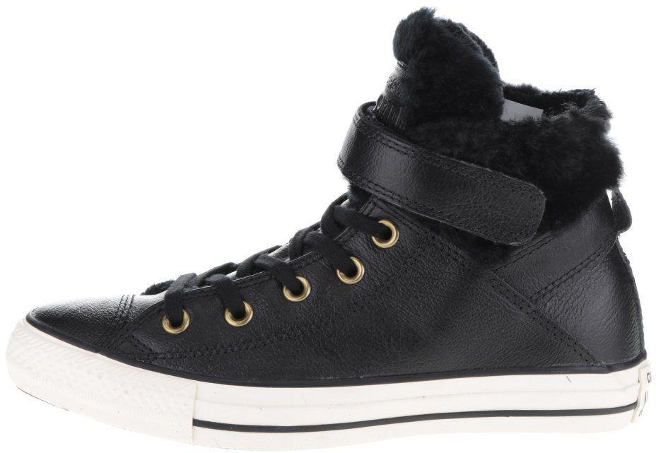 Čierne dámske kožené tenisky Converse Chuck Taylor All Star Chelsea Brea  značky Converse - Lovely.sk c406cb5b79