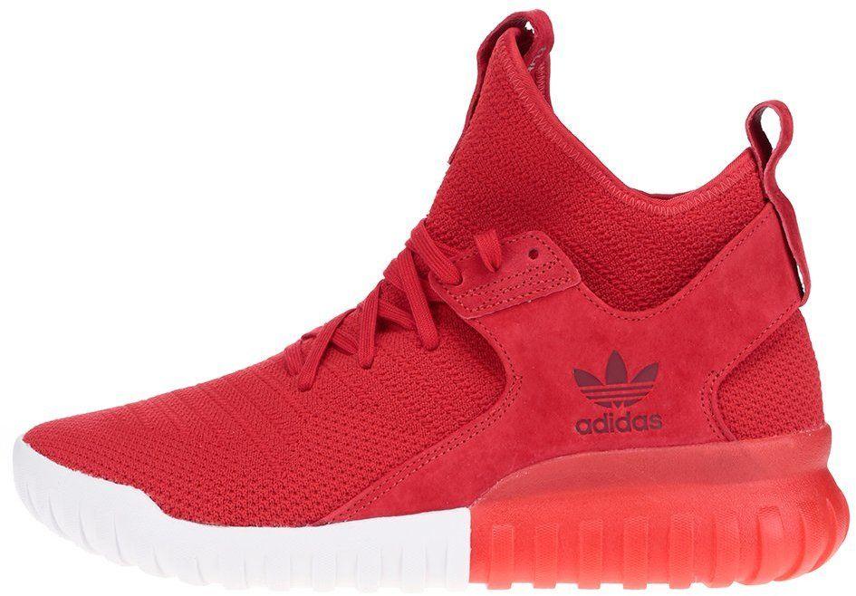 Červené pánske členkové topánky so semišovým detailom adidas Originals  Tubular X PK značky adidas Originals - Lovely.sk 621a4edef05