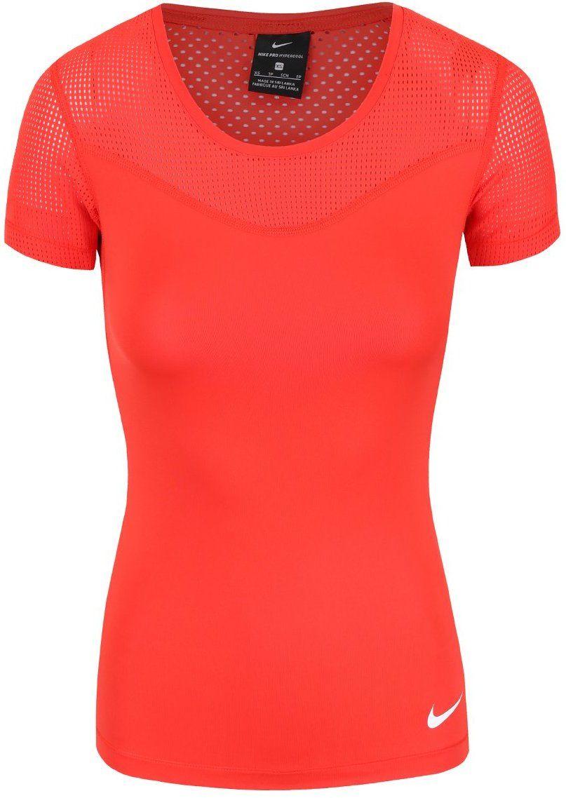 cb710bd7e695 Červené dámske tričko Nike Pro Hypercool značky Nike - Lovely.sk