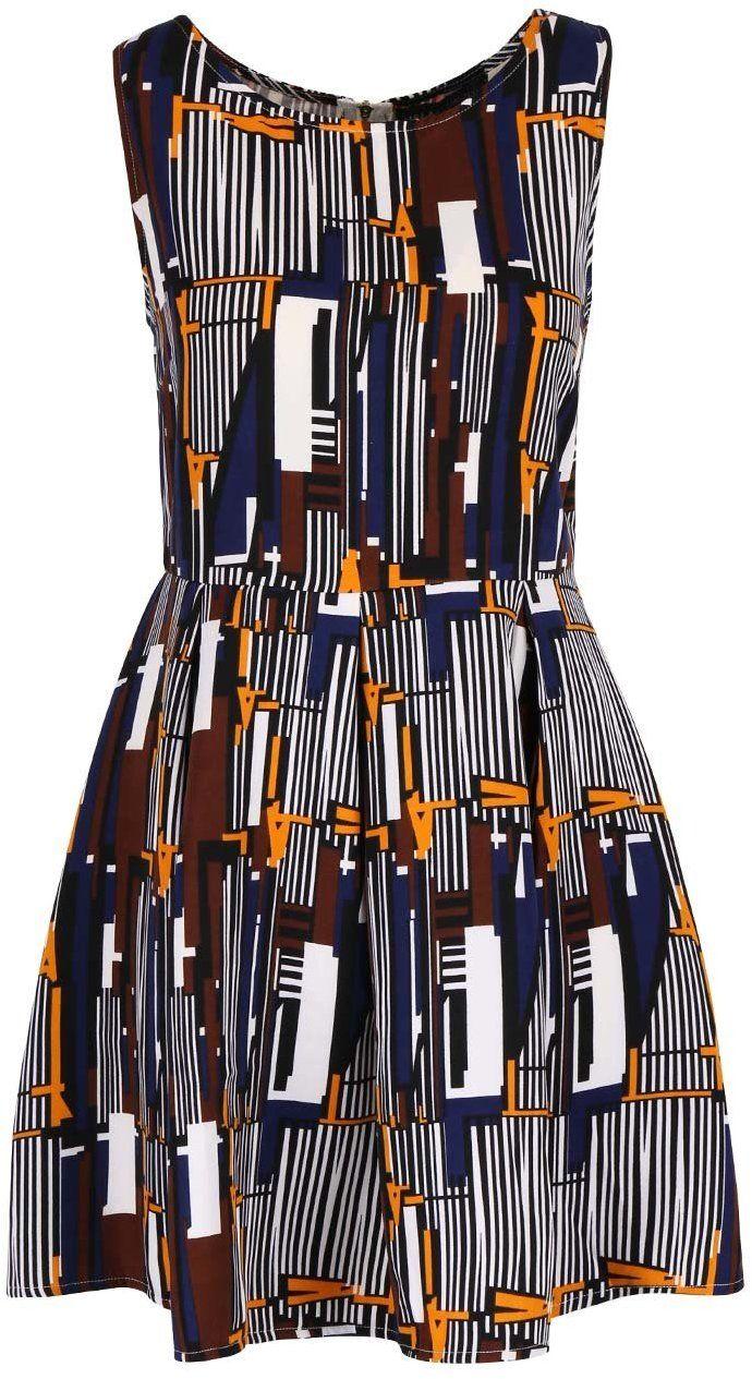 Krémové vzorované šaty so skladanou sukňou Mela London značky Mela London -  Lovely.sk 198a34bb381