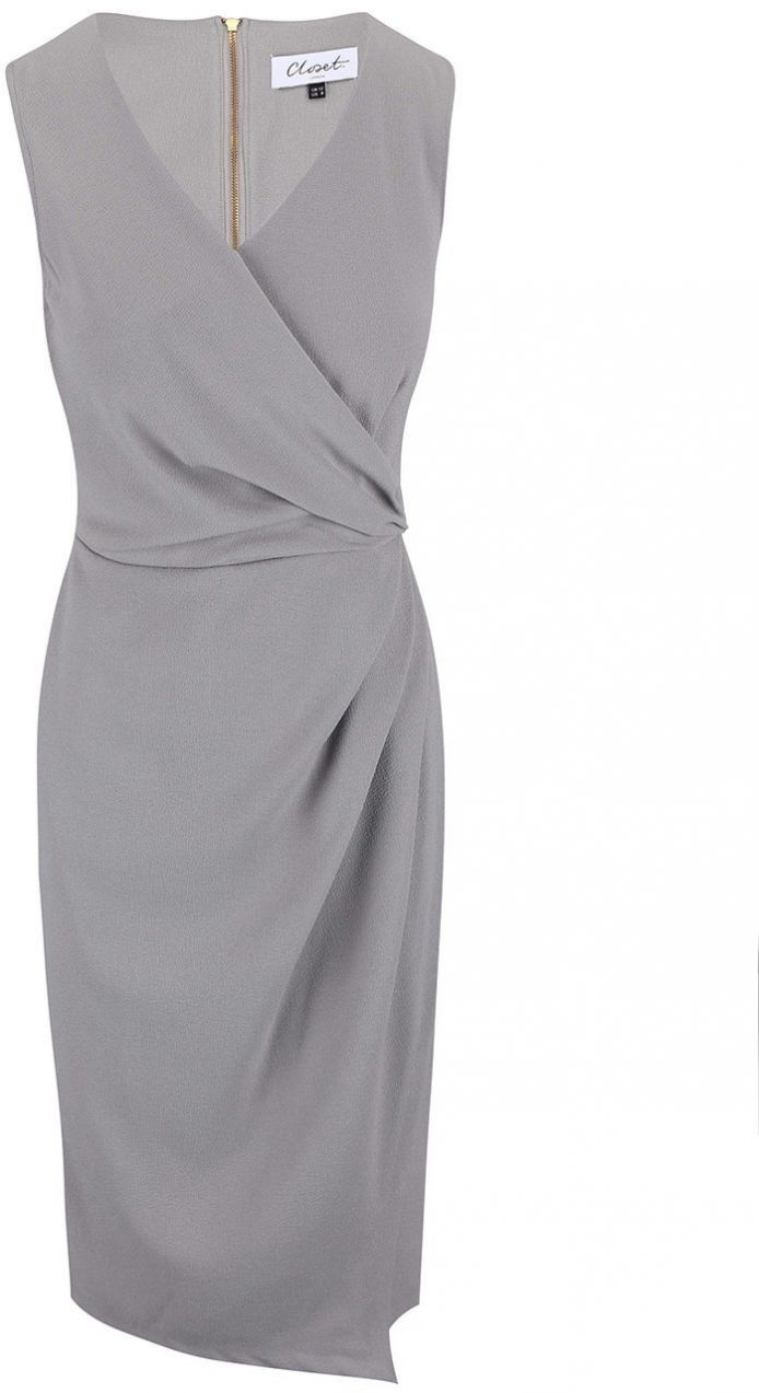 b4733549e18e Sivé skladané šaty Closet značky Closet - Lovely.sk