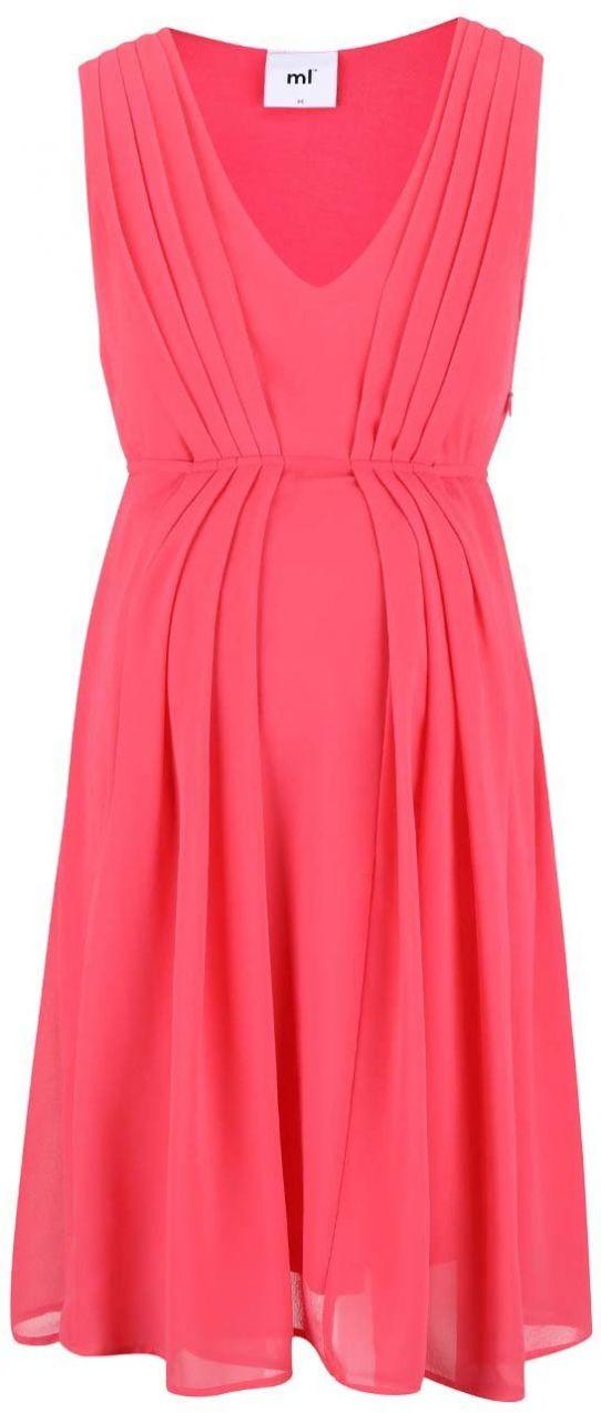 0132f581b73a Ružové tehotenské šaty Mama.licious Mary značky Mama.licious - Lovely.sk