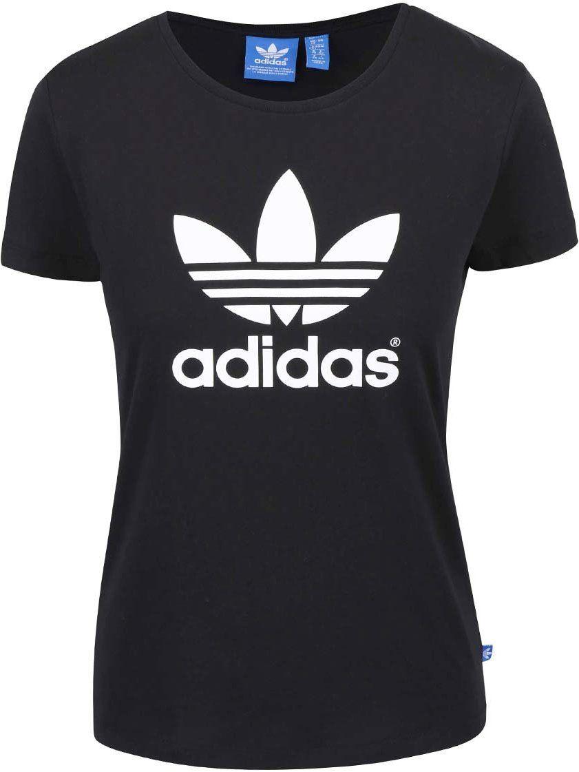 36ab3e7af005 Čierne dámske tričko s potlačou loga adidas Originals značky adidas  Originals - Lovely.sk