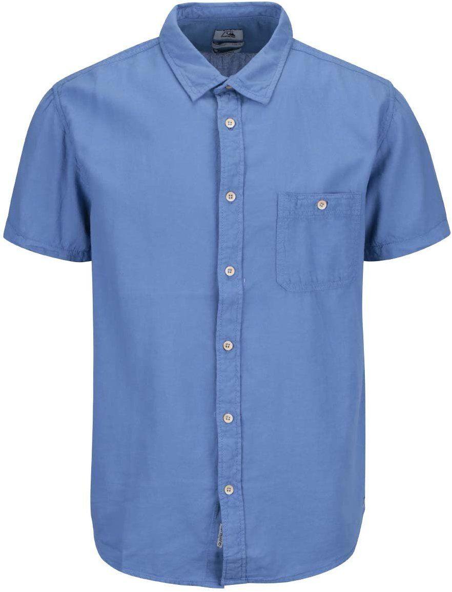 3a518a5a1cad Modrá pánska košeľa s krátkym rukávom Quiksilver Time Box značky Quiksilver  - Lovely.sk
