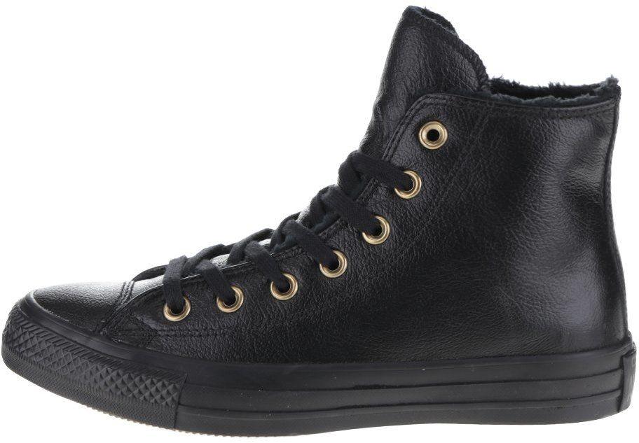 bcc796d41c Čierne dámske kožené členkové tenisky Converse Chuck Taylor All Star značky  Converse - Lovely.sk