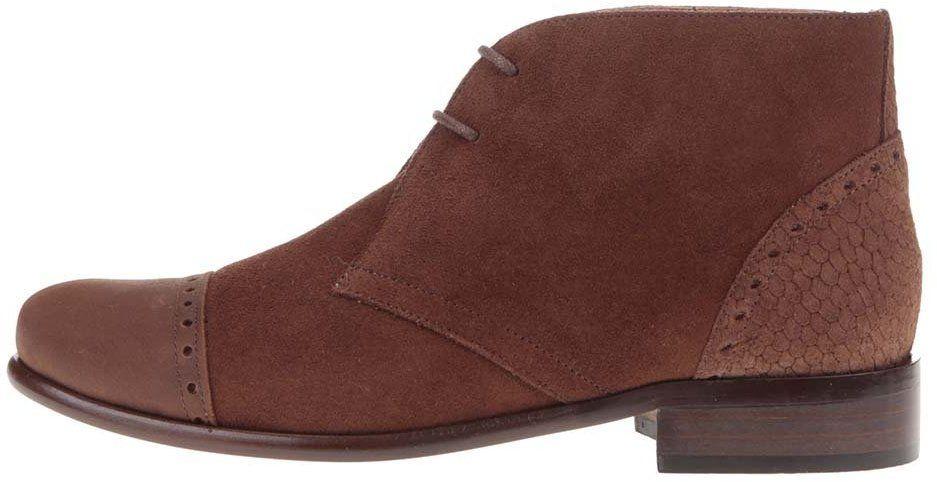 605a885c1555 Hnedé kožené členkové topánky s výraznými detalami OJJU značky OJJU -  Lovely.sk