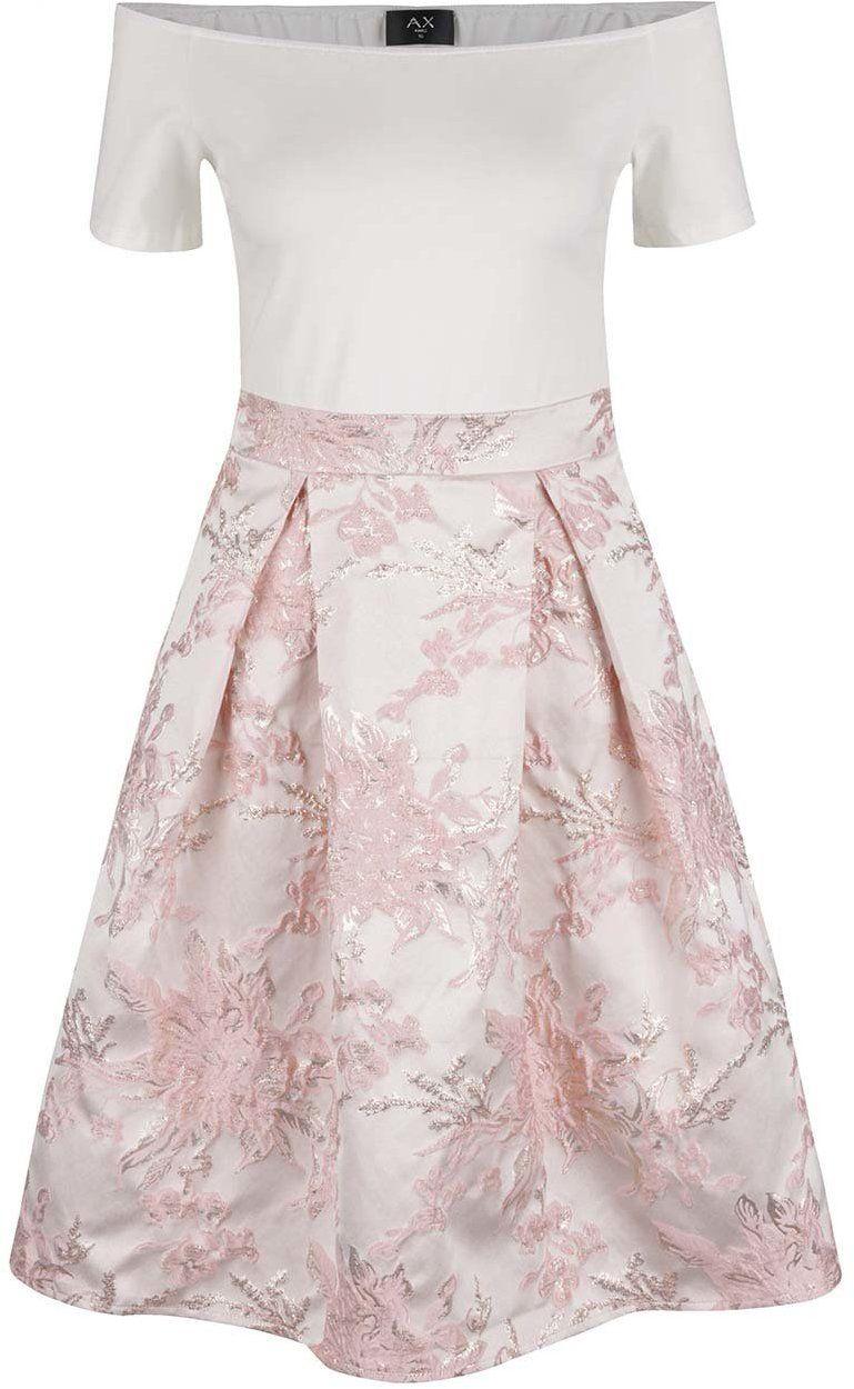 Krémovo-ružové šaty AX Paris značky AX Paris - Lovely.sk 9974b9aa463