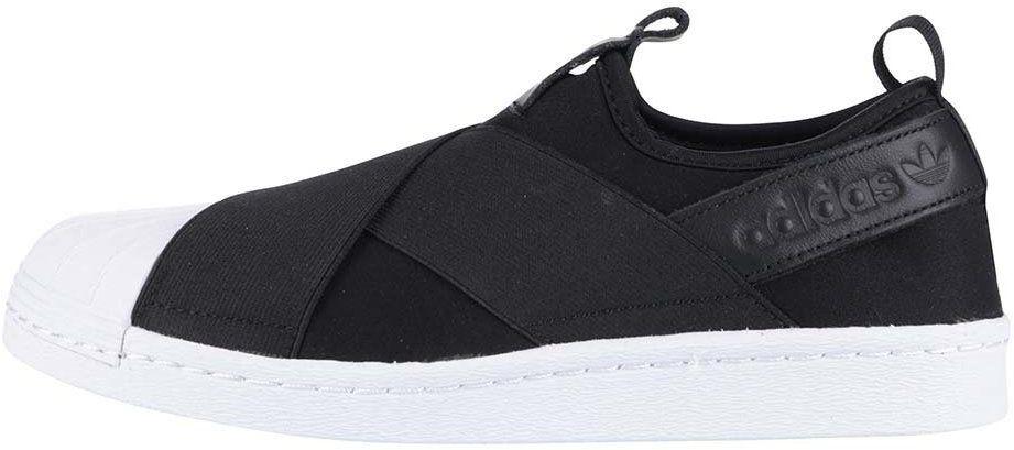 Bielo-čierne dámske slip on tenisky adidas Originals Superstar značky adidas  Originals - Lovely.sk d2d84fd3e8a