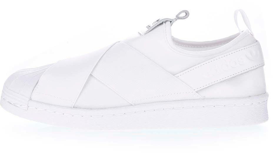 5713a7ebc720d Biele unisex slip on tenisky adidas Originals Superstar značky adidas  Originals - Lovely.sk