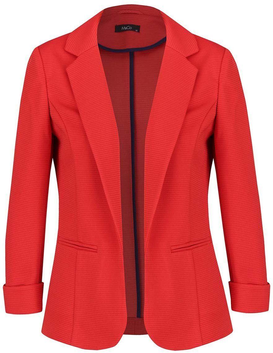 Červené dámske sako M Co značky M Co - Lovely.sk d2741963ce7