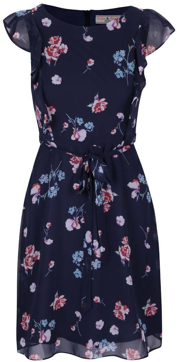 Tmavomodré šaty s kvetmi Dorothy Perkins Petite značky Dorothy Perkins  Petite - Lovely.sk e6a4e1bd0d6