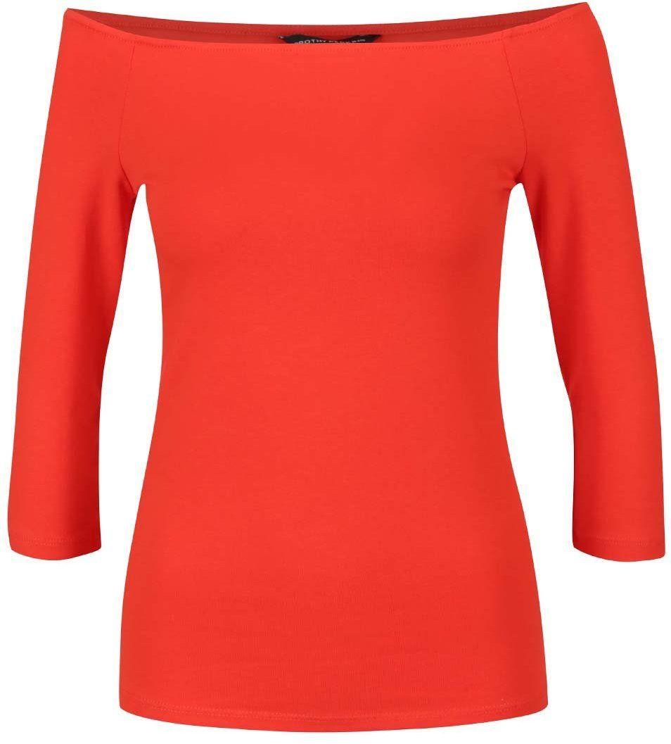 4f1c5495e2ec Červené tričko s lodičkovým výstrihom Dorothy Perkins značky Dorothy  Perkins - Lovely.sk