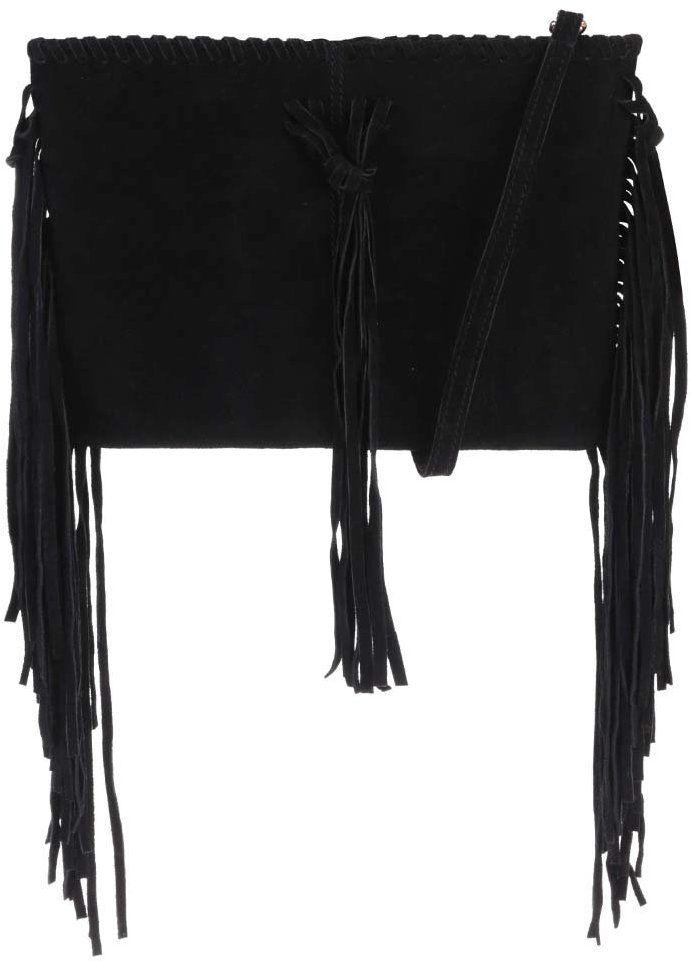 4931f36fd4 Čierna semišová crossbody kabelka so strapcami Miss Selfridge značky Miss  Selfridge - Lovely.sk