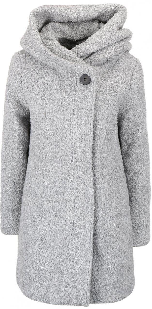 b0f2ff51a3 Svetlosivý melírovaný zimný kabát s veľkou kapucňou VILA Cama značky VILA -  Lovely.sk