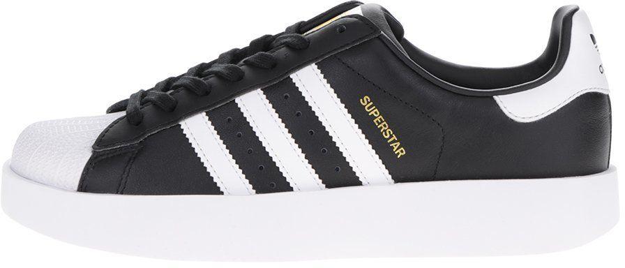 Čierne dámske kožené tenisky na platforme adidas Originals Superstar značky adidas  Originals - Lovely.sk f37f839692a