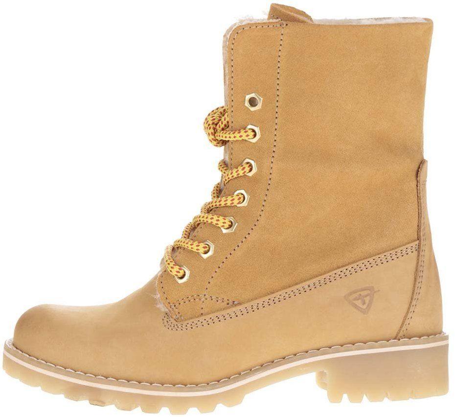 40e59fece1 Hnedé zimné kožené topánky s kožušinou Tamaris značky Tamaris - Lovely.sk