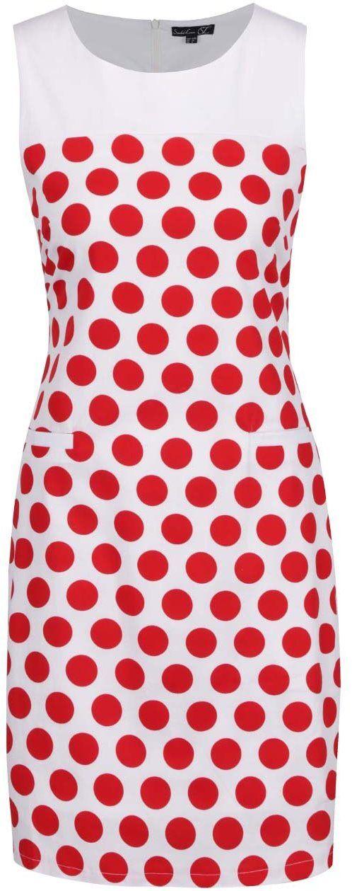 27aaf6d1930b8 Červeno-biele bodkované šaty Smashed Lemon značky Smashed Lemon - Lovely.sk