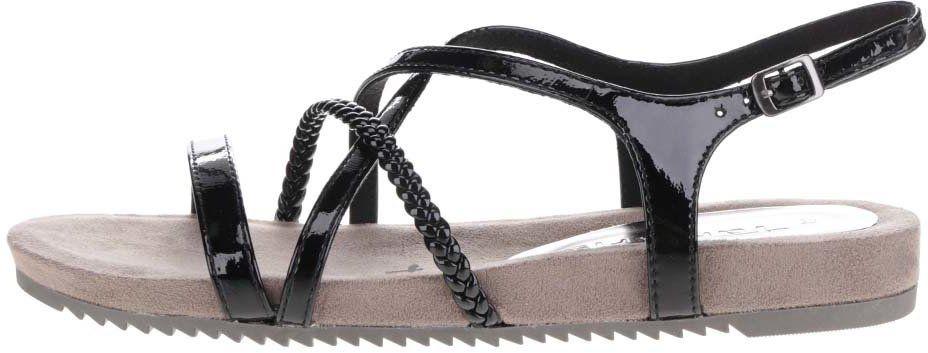 9b7cfd1e403c Čierne remienkové sandále Tamaris značky Tamaris - Lovely.sk