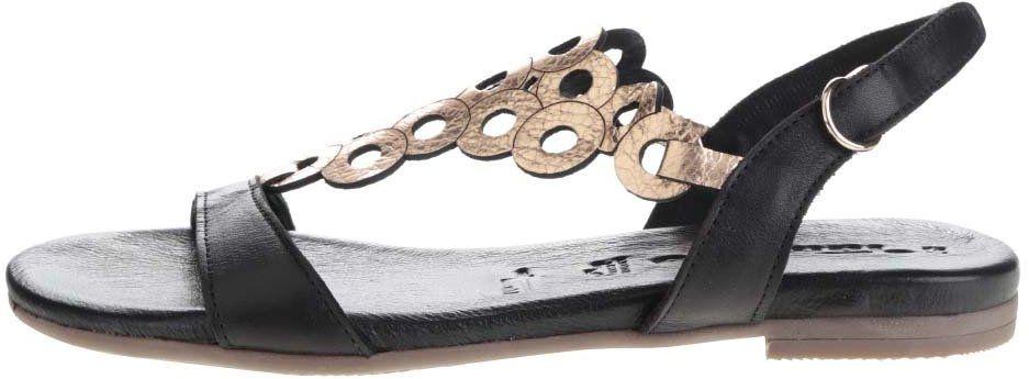 d6180d3691a2 Čierne kožené sandále Tamaris značky Tamaris - Lovely.sk