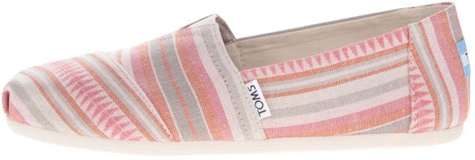 Loafers Dámske Pruhované Ružové Značky Krémovo Stripe Toms VSUzMGqp