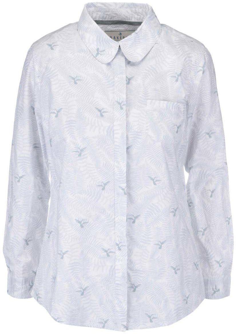 b8f034cf5619 Biela košeľa s potlačou kolibríkov Brakeburn Hummingbird značky Brakeburn -  Lovely.sk