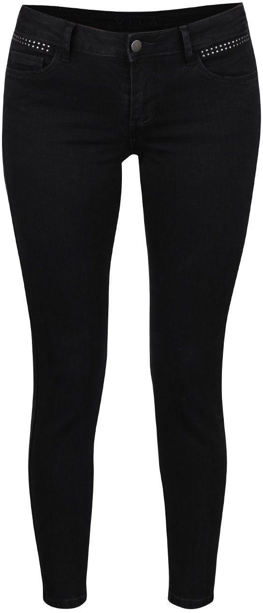 7d9fb2f3882b Čierne džínsy s detailmi VILA Commit značky VILA - Lovely.sk