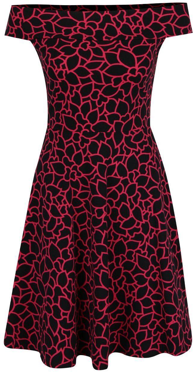 4a503bc007a5 Červeno-čierne vzorované šaty s padnutými ramenami Dorothy Perkins značky  Dorothy Perkins - Lovely.sk