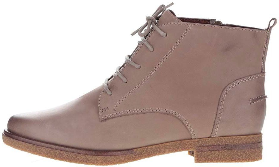 2dd41d639f6fb Béžové kožené členkové topánky so zipsom Tamaris značky Tamaris - Lovely.sk