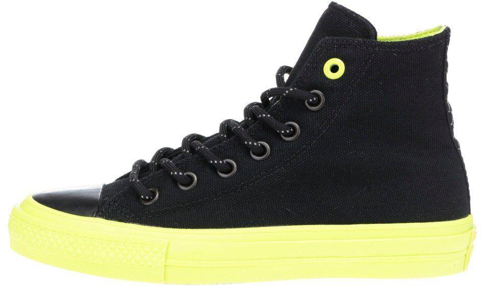 Čierne unisex členkové tenisky so zelenou podrážkou Converse Chuck Taylor  All Star II značky Converse - Lovely.sk 2ae6fc64db