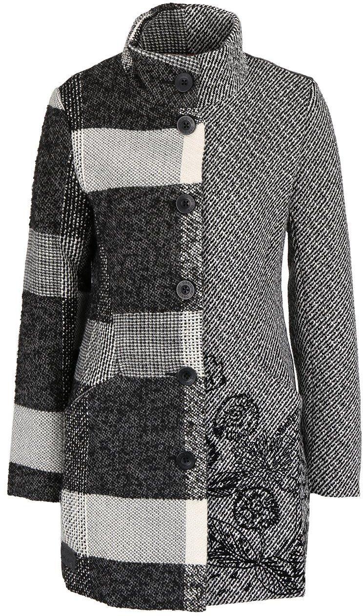 Krémovo-sivý kabát Desigual Ibiza značky Desigual - Lovely.sk 530f70be276