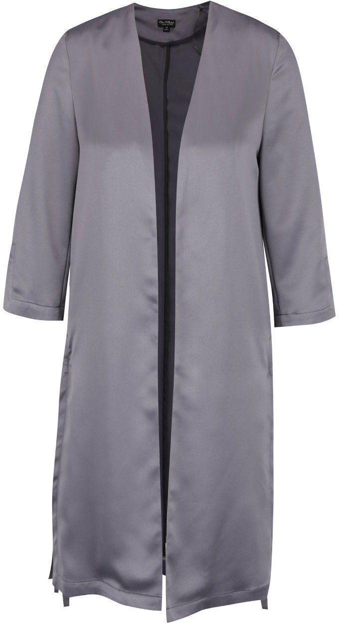 Sivý ľahký kabát v saténovej úprave Miss Selfridge značky Miss Selfridge -  Lovely.sk 21ed8cf4251