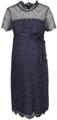 6bbbb8685fa7 Modré tehotenské čipkované šaty Mama.licious Fleur