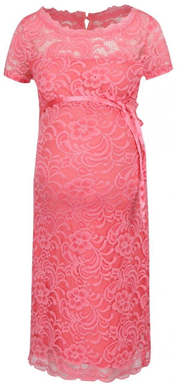 e64fb141ba4b Ružové tehotenské čipkované šaty Mama.licious Mivana značky Mama.licious -  Lovely.sk