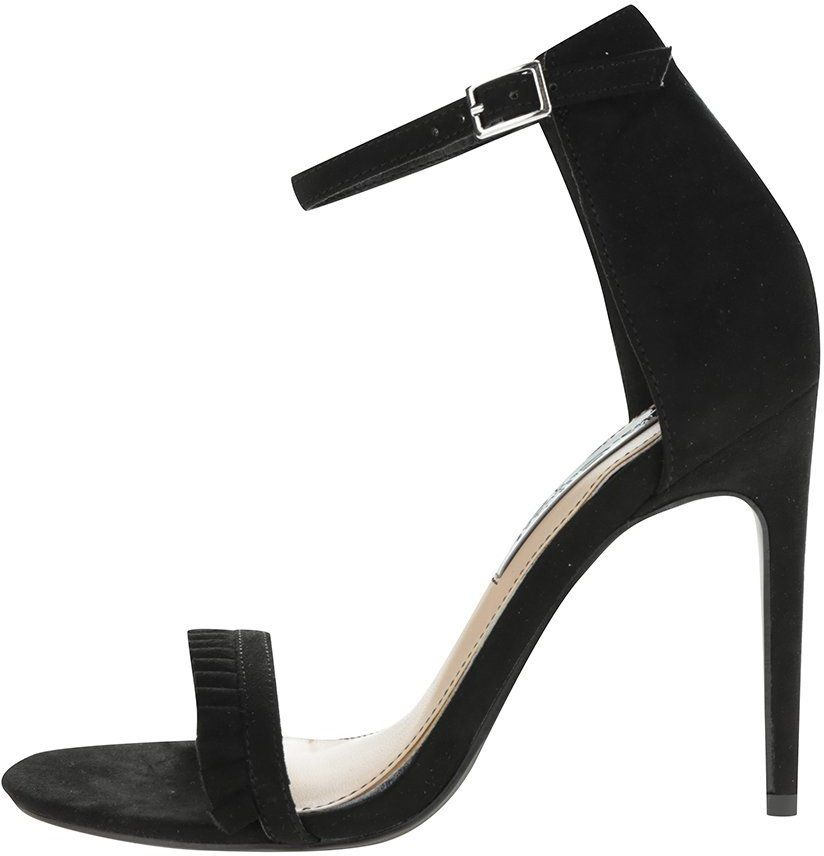 6d1b645c34aa7 Čierne sandálky v semišovej úprave na ihlovom podpätku Miss Selfridge  značky Miss Selfridge - Lovely.sk