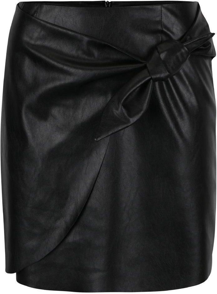 7f3f57cf38cd Čierna koženková sukňa s uzlíkom Miss Selfridge značky Miss Selfridge -  Lovely.sk