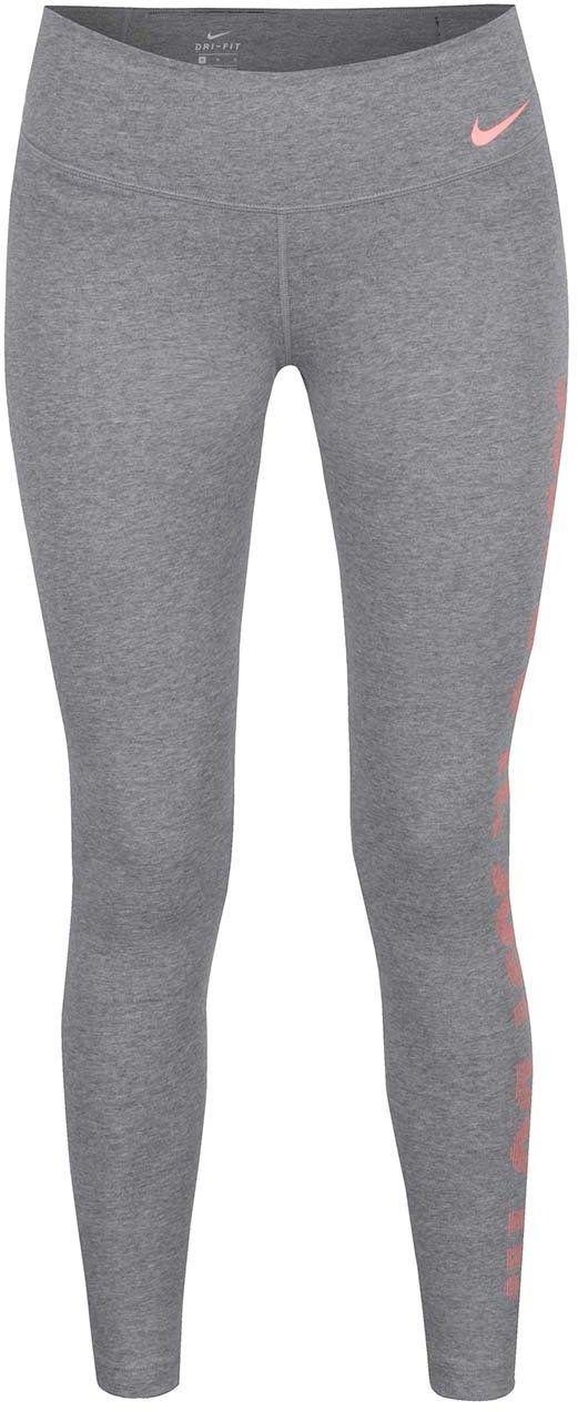 Sivé dámske funkčné legíny s potlačou Nike Dry značky Nike - Lovely.sk 653ea470c0