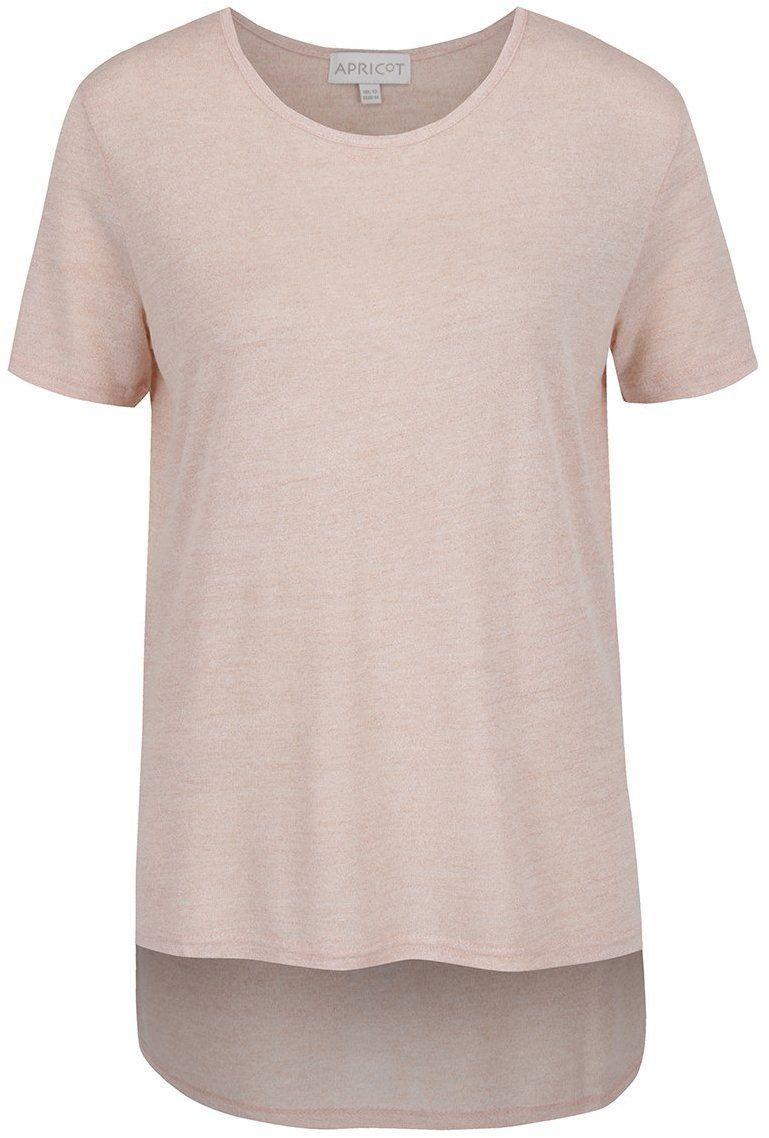 d21da9dbbba1 Svetloružové tričko s predĺženým zadným dielom Apricot značky Apricot -  Lovely.sk