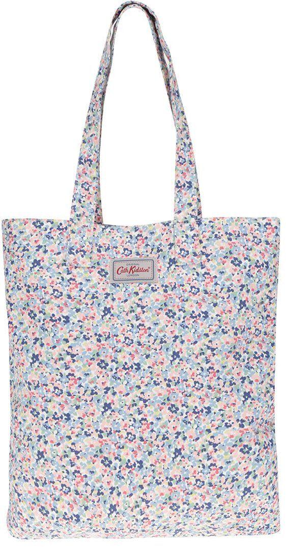 bdab455701 Ružovo-modrá dámska kvetinová plátenná taška Cath Kidston značky Cath  Kidston - Lovely.sk