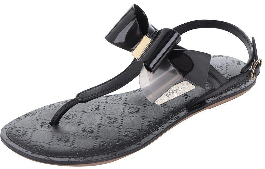 5548f7013640 Čierne sandále s mašľou Grendha značky Grendha - Lovely.sk
