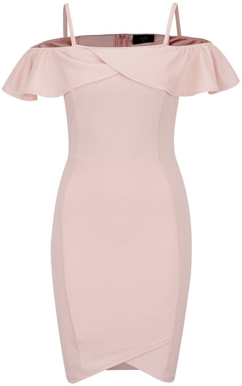 75a5fbee9608 Ružové šaty s odhalenými ramenami AX Paris značky AX Paris - Lovely.sk