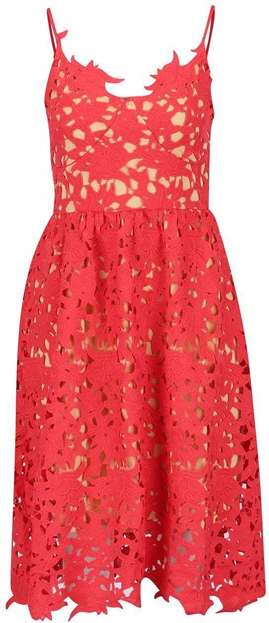 30a7d05eac1a Červené čipkované šaty VERO MODA Beauti značky Vero Moda - Lovely.sk