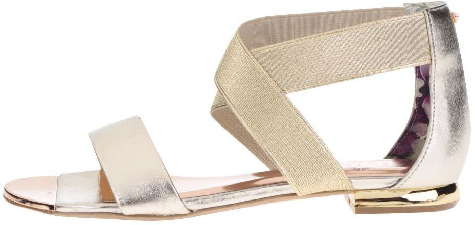 8cca04126cc72 Remienkové kožené sandále v zlatej farbe Ted Baker Laana značky Ted Baker -  Lovely.sk
