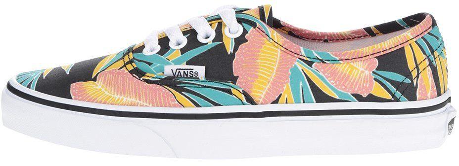 6d5b2bb8669 Čierne kvetované dámske tenisky VANS Authentic značky Vans - Lovely.sk