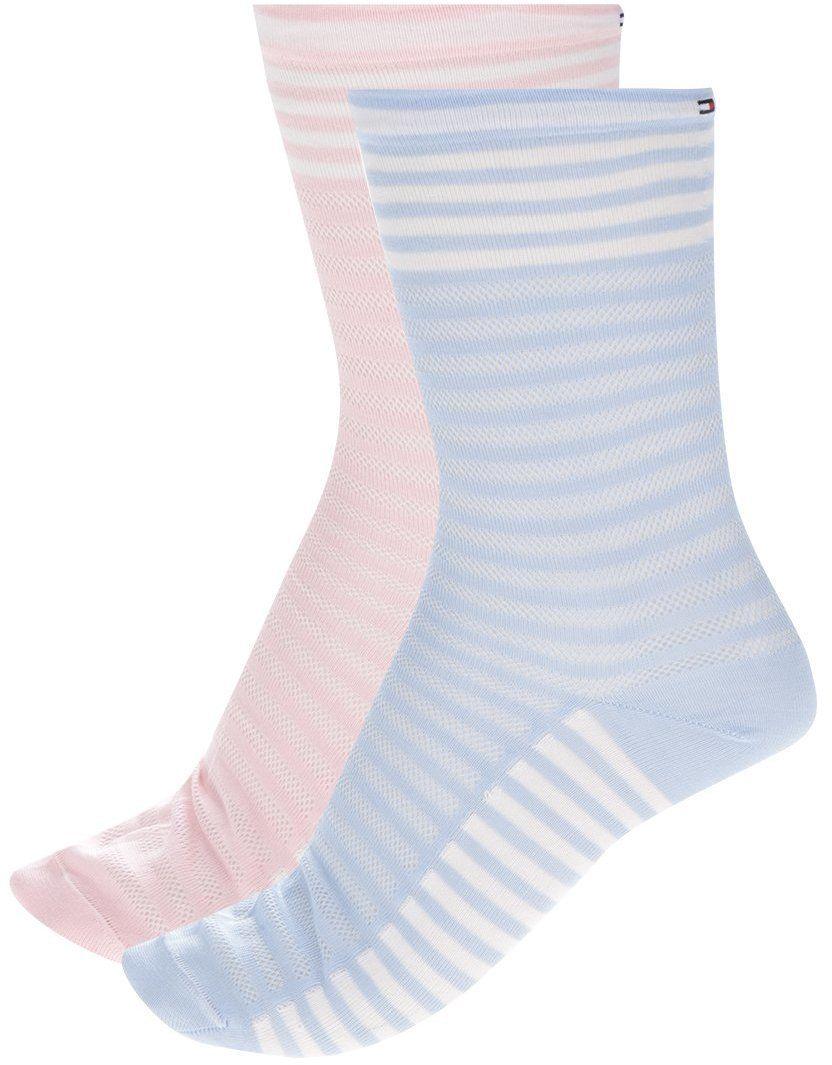 Súprava dvoch dámskych ponožiek v ružovej a modrej farbe Tommy Hilfiger  Classy varsity značky Tommy Hilfiger - Lovely.sk 1cd555c0b16