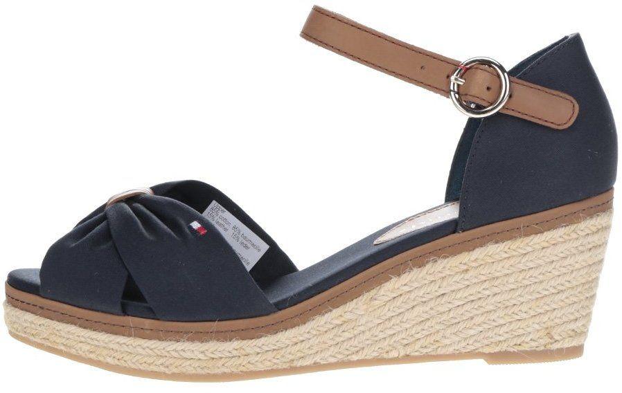 b109a7b92571 Čierne dámske topánky na klinovom podpätku Tommy Hilfiger značky Tommy  Hilfiger - Lovely.sk