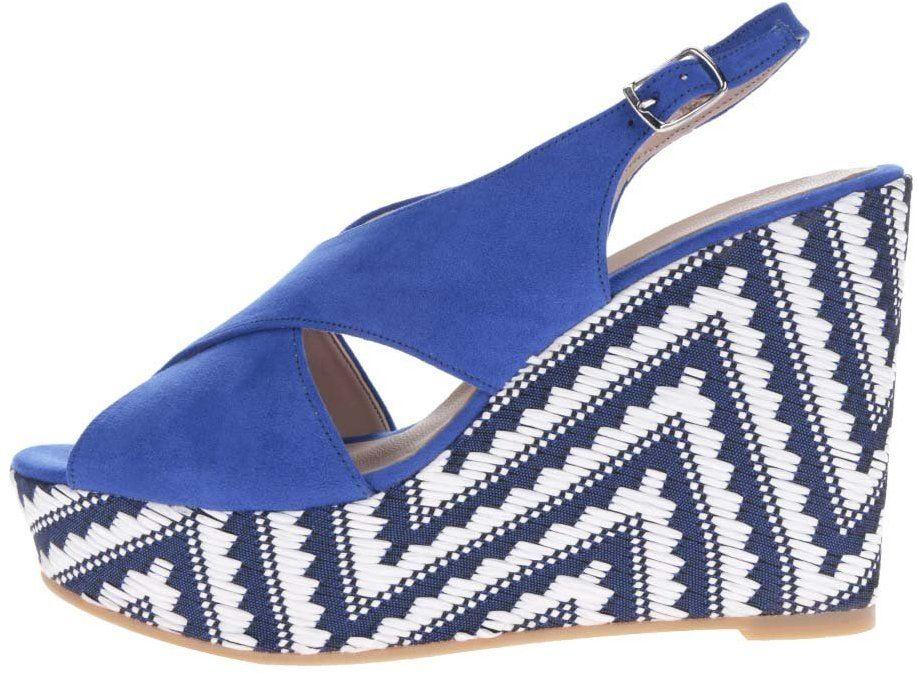 b110c68c0a16d Modré sandále v semišovej úprave na platforme OJJU značky OJJU - Lovely.sk