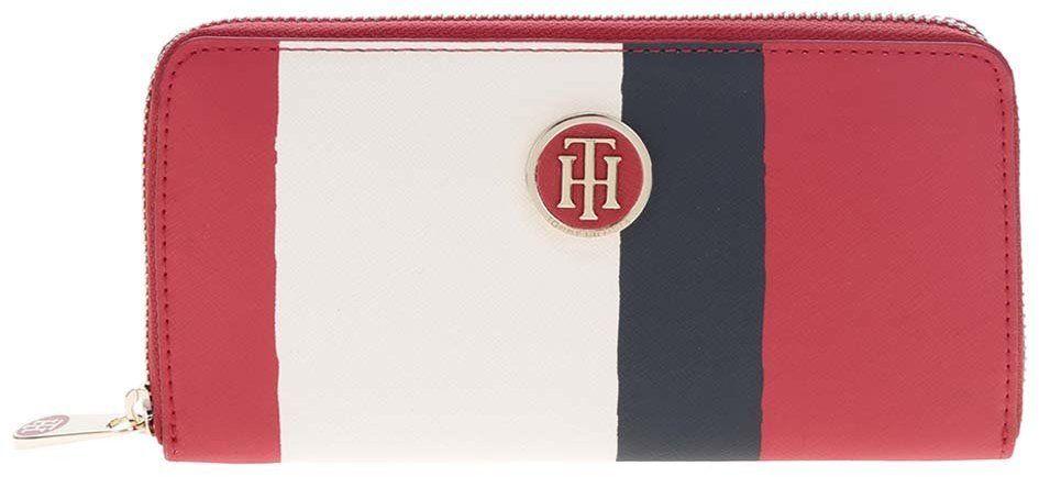 Krémovo-červená dámska peňaženka na zips s aplikáciou Tommy Hilfiger značky  Tommy Hilfiger - Lovely.sk 96d257d9453