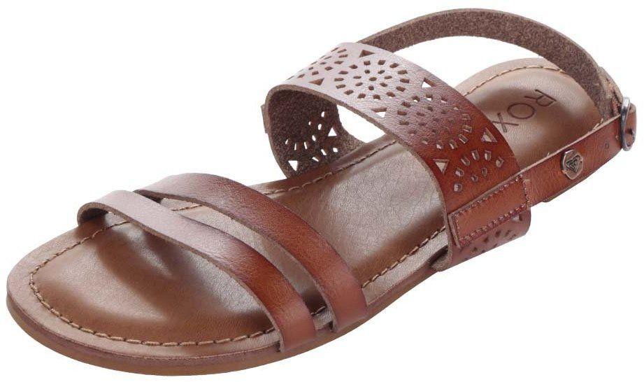 Hnedé sandále s ornamentmi Roxy Felicia 5b481f1265