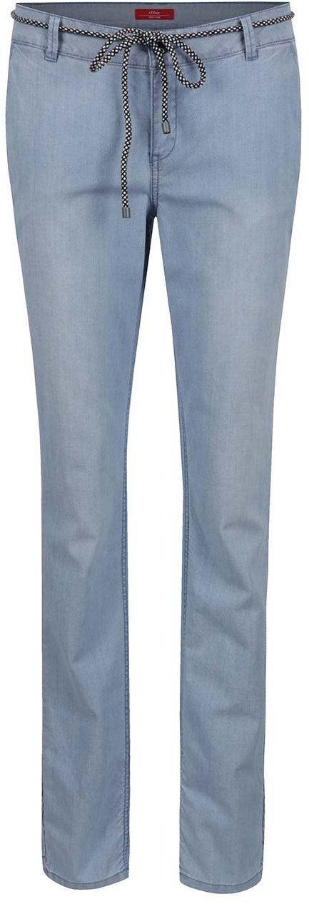 339ae0e9b Modré dámske chino nohavice s opaskom s.Oliver značky s.Oliver - Lovely.sk