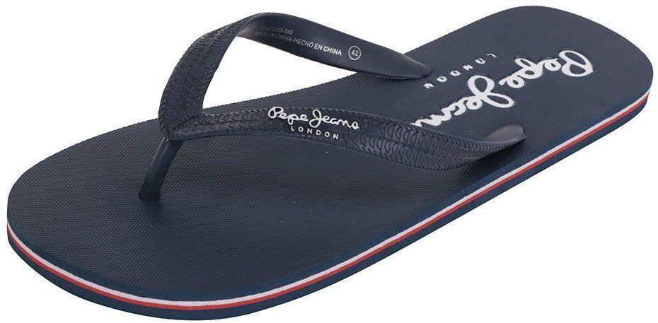 53487bea304a Tmavomodré pánske žabky s nápisom Pepe Jeans Swimming značky Pepe Jeans -  Lovely.sk